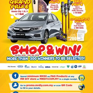 COMPETITION : MR. D.I.Y. & P&G Shop and Win!