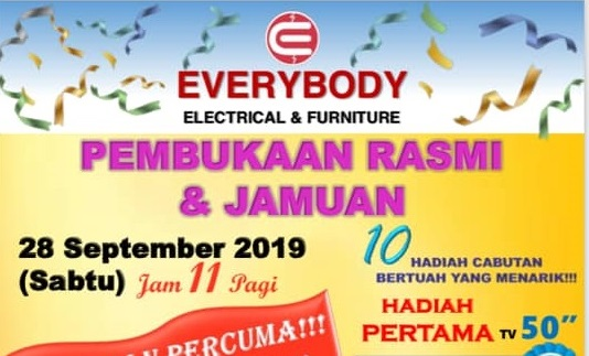 Grand Opening Ceremony for Everybody Electrical & Furniture on 28 September 2019